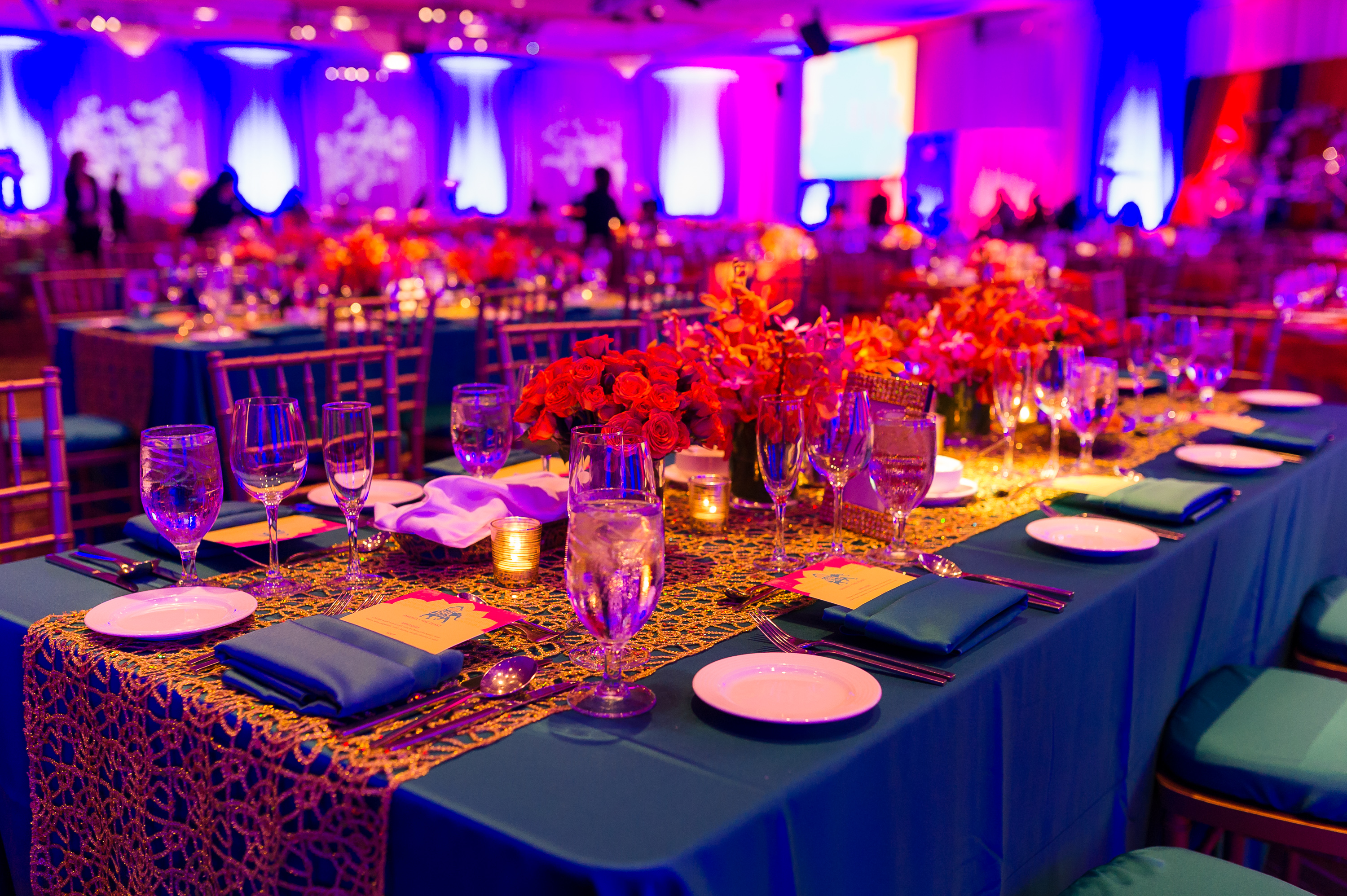 Blue And Gold Table Decor Tolo Events